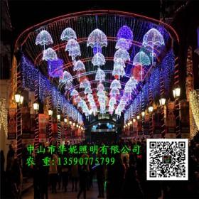 雨伞挂件街棚灯 LED路灯杆光雕 新春市政街道亮化工程