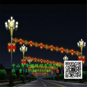 中国结款LED街棚灯 户外防水LED路灯杆挂件 中国梦景观灯