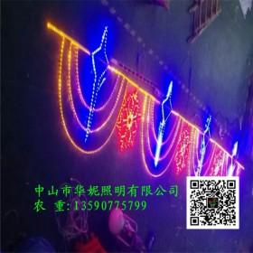 武汉LED过街灯亮化工程案例 国庆节路灯杆亮化 LED街棚灯