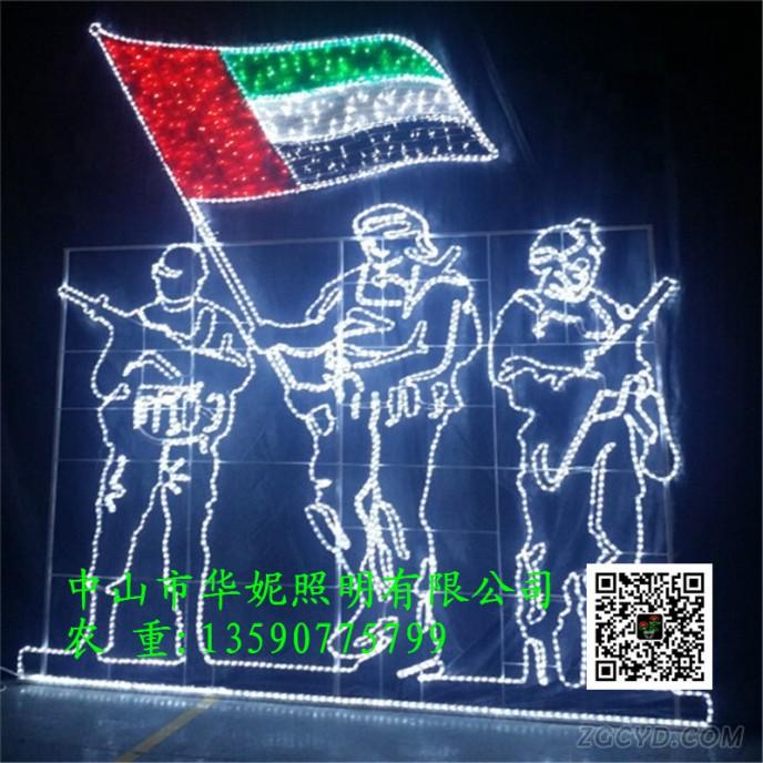 2-5M-height-220V-flag-decorative-light
