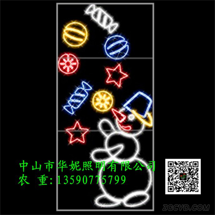 2D-Holiday-lighting-LED-Snowman-rope-motif