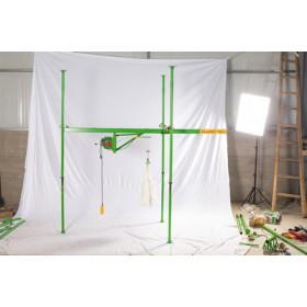 微型吊机生产厂家-湖北电动旋转500公斤装修小吊机
