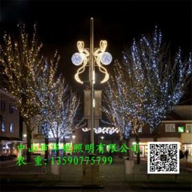 石家庄市LED路灯杆造型灯 国庆节街道树木亮化 桃子灯