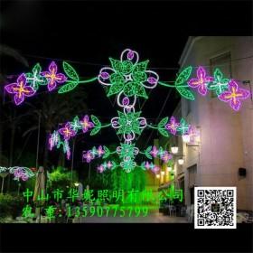 张家口市LED过街灯 户外LED路灯杆造型灯 元旦亮化