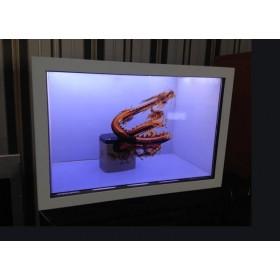 多媒体透明屏 展柜触控展示柜触摸液晶展柜 透明显示屏