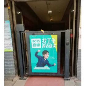 武汉广告门生产厂家 栅栏式广告门 玻璃式广告门